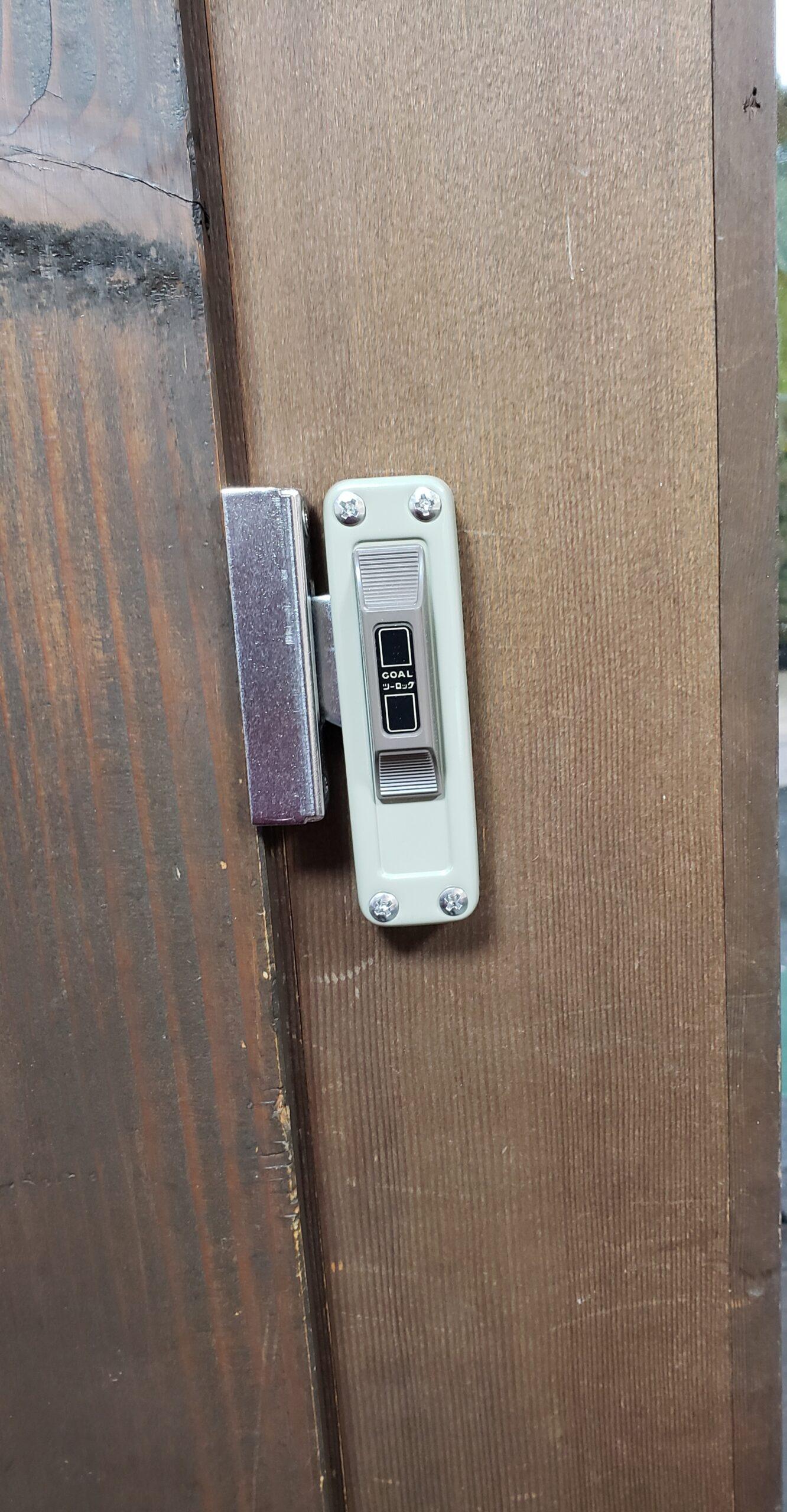 お店の入口に2つ目の鍵🔑